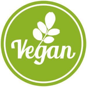 sbi1 SymbolButtonIcon sbi - german: Symbol Vegan mit grünen Moringa Oleifera Blättern - english: icon vegan with green leafs - xxl g5502